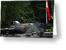 Tank Commander Of A Leopard 1a5 Mbt Greeting Card by Luc De Jaeger