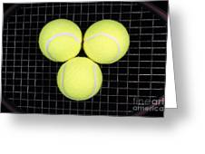 Time For Tennis Greeting Card by John Van Decker