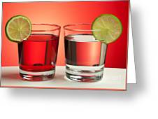 Two Red Drinks Greeting Card by Blink Images