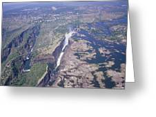 Victoria Falls Greeting Card by Carlos Dominguez