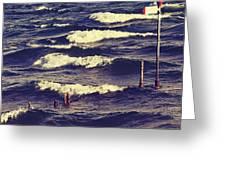 Waves Greeting Card by Joana Kruse
