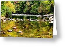 Williams River Autumn Greeting Card by Thomas R Fletcher