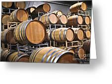 Wine Barrels Greeting Card by Elena Elisseeva