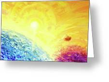 Cosmic Light Series Greeting Card by Len Sodenkamp