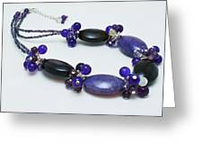 3598 Purple Cracked Agate Necklace Greeting Card by Teresa Mucha