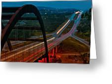360 Bridge Morning Traffic Greeting Card by Lisa  Spencer