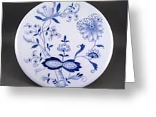 376 Trivit Blue Onion Greeting Card by Wilma Manhardt