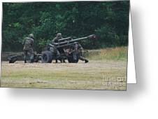 A Belgian Artillery Unit Setting Greeting Card by Luc De Jaeger