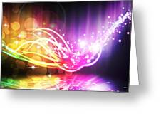 Abstract Lighting Effect  Greeting Card by Setsiri Silapasuwanchai