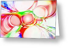 Abstract Of Circle  Greeting Card by Setsiri Silapasuwanchai