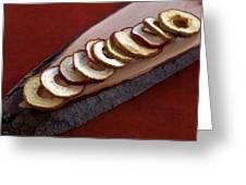 Apple Chips Greeting Card by Joana Kruse