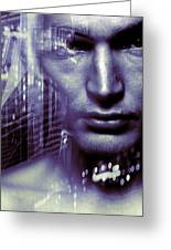 Artificial Intelligence Greeting Card by Coneyl Jay