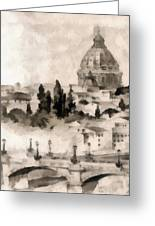 By Italy Greeting Card by Odon Czintos