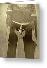 Crucifix Greeting Card by Joana Kruse