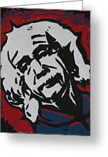 Einstein 2 Greeting Card by William Cauthern