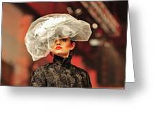 Fat Fashion Art Toronto Greeting Card by Andrea Kollo