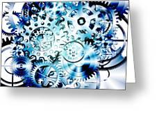 Gears Wheels Design  Greeting Card by Setsiri Silapasuwanchai