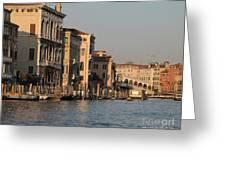 Grand Canal. Venice Greeting Card by Bernard Jaubert