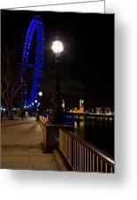 London Eye Night View Greeting Card by David Pyatt