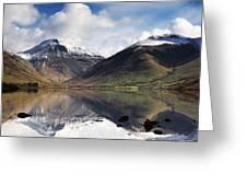 Mountains And Lake, Lake District Greeting Card by John Short