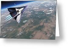 Saenger-horus Spaceplane, Artwork Greeting Card by Detlev Van Ravenswaay