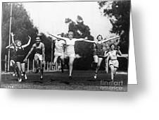Silent Film Still: Sports Greeting Card by Granger