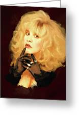 Stevie Nicks Greeting Card by Brian Tones