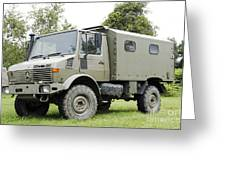 Unimog Truck Of The Belgian Army Greeting Card by Luc De Jaeger