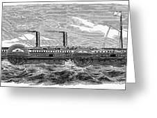 4 Wheel Steamship, 1867 Greeting Card by Granger