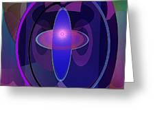 466 - Elliptical Fantasy Greeting Card by Irmgard Schoendorf Welch