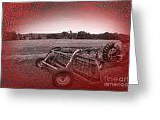 47 Bales Greeting Card by The Stone Age