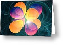 4f2 Electron Orbital Greeting Card by Laguna Design