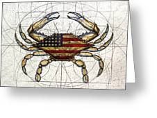 4th Of July Crab Greeting Card by Charles Harden