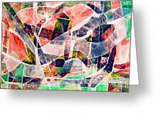 Abstract Composition Greeting Card by Michal Boubin