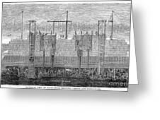 Brooklyn Bridge, 1870 Greeting Card by Granger