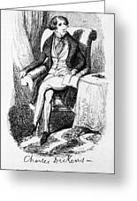 Charles Dickens, English Author Greeting Card by Photo Researchers