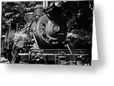 Climax Geared Locomotive Greeting Card by Thomas R Fletcher