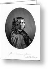 Harriet Beecher Stowe Greeting Card by Granger