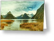 Milford Sound Greeting Card by MotHaiBaPhoto Prints