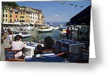 Portofino In The Italian Riviera In Liguria Italy Greeting Card by David Smith