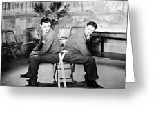 SILENT STILL: TWO MEN Greeting Card by Granger