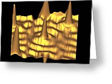 Spintronics Research, Stm Greeting Card by Drs A. Yazdani & D.j. Hornbaker