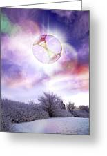 Ufo, Artwork Greeting Card by Victor Habbick Visions