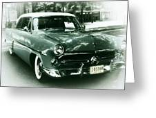 '52 Ford Victoria Hard Top Greeting Card by Cathie Tyler