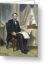 Abraham Lincoln Greeting Card by Granger