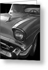 '57 Chevy Bel Air Greeting Card by Debra and Dave Vanderlaan
