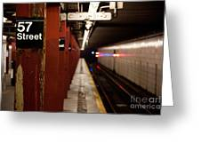 57th Street Station Greeting Card by Steven Gray