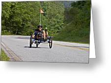 Bicycle Ride Across Georgia Greeting Card by Susan Leggett