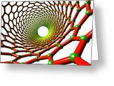 Carbon Nanotube Greeting Card by Pasieka