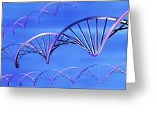 Dna Molecules, Computer Artwork Greeting Card by Pasieka
